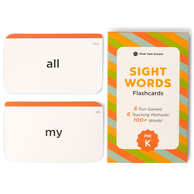 Preschool Sight Word Flash Cards