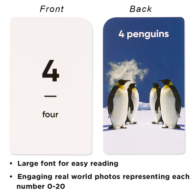 Numbers & Counting Flash Cards for Toddlers Ages 2+, Number 0-20, Tens 30-100