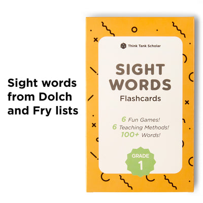 1st Grade Sight Word Flash Cards from Dolch & Fry