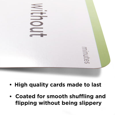 High quality flash cards made to last. Coated for smooth shuffling and flipping without being slippery