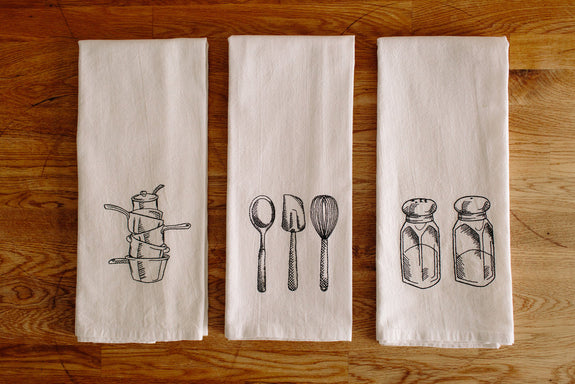 Embroidered Kitchen Towel Set