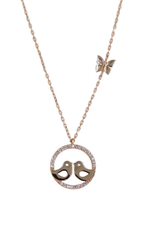 b77db66315677 Infinity - Solid 14ct rose gold circle necklace — Munro Scotland