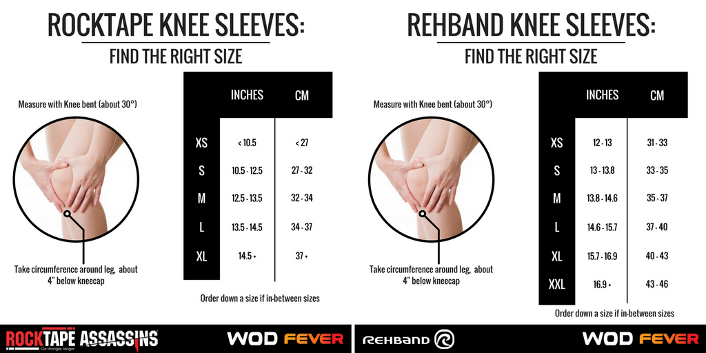 5fba45ba27 How to Measure for Knee Sleeves for CrossFit and Weightlifting - Sizin –  WOD Fever