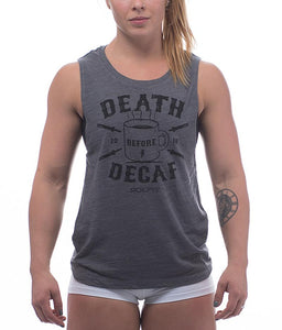 death-before-decaf-womens-crossfit-tank-top-heather-asphalt-front-by-rokfit