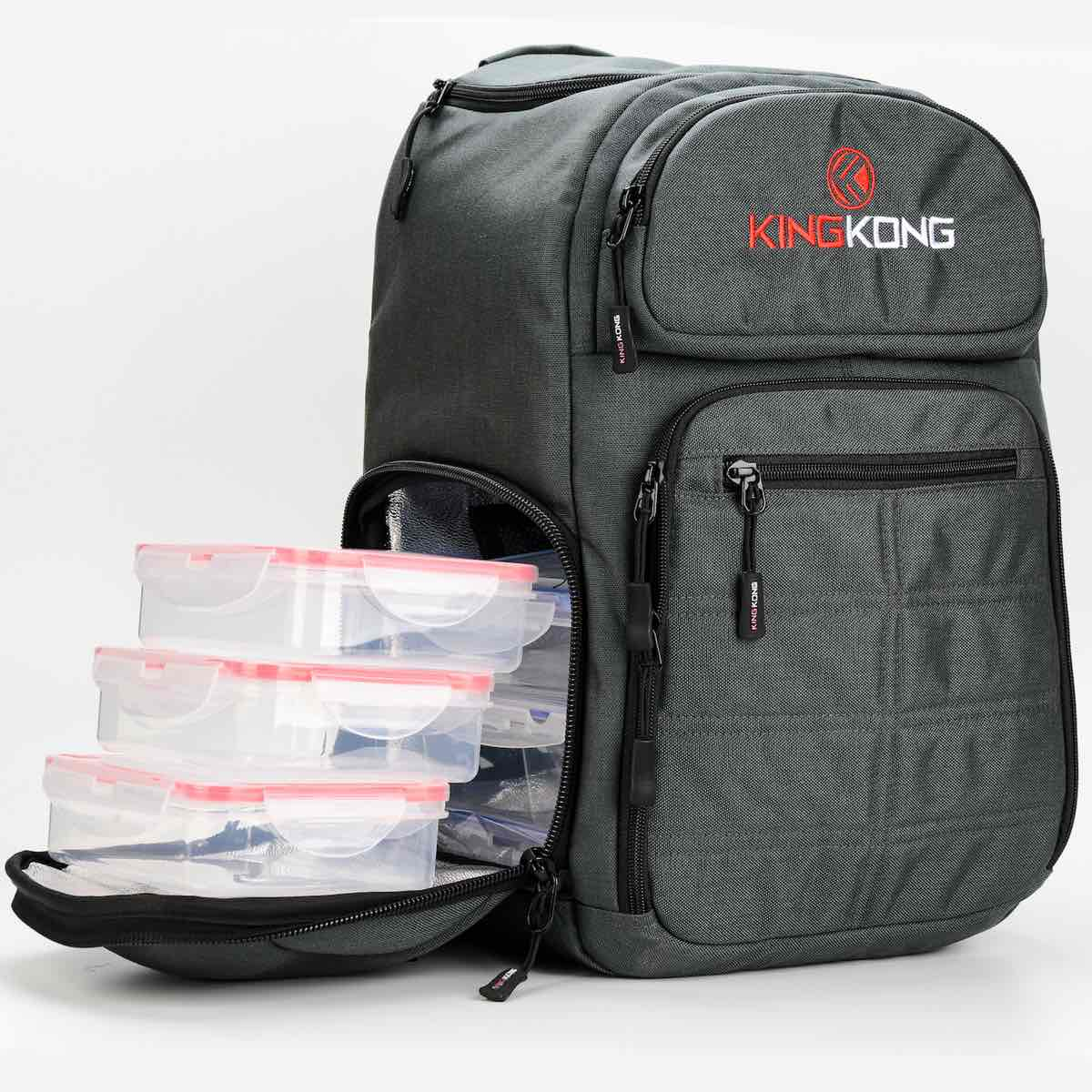Crossfit Meal Prep Backpack King Kong Fuel Charcoal