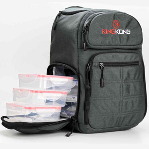 crossfit-meal-prep-backpack-king-kong-fuel-charcoal-open-compartment