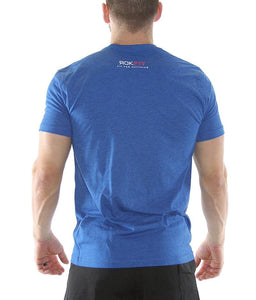 outlift-a-runner-outrun-a-lifter-mens-crossfit-shirt-royal-blue-white-and-red-print-back-by-rokfit