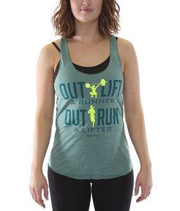 outlift-a-runner-outrun-a-lifter-womens-crossfit-tank-top-tri-lemon-fabric-neon-yellow-and-deep-green-ink-front-by-rokfit