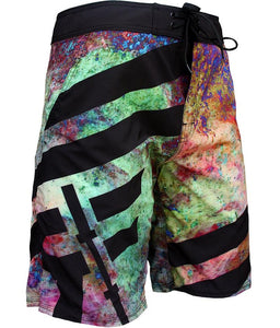 orion-mens-board-shorts-crossfit-shorts-teal-green-purple-pink-blue-hues-black-accents-and-trim-front-angled-by-rokfit