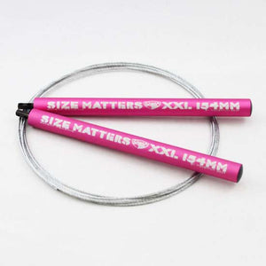 xxl-size-matters-crossfit-speed-rope-pink-handles-silver-cable-by-momentum-gear