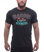 the-trifecta-bacon-coffee-fitness-tri-black-mens-crossfit-shirt-front-by-rokfit