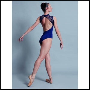 High Neck Floral Sleeve Leotard-Fashion Leotards-Ballet Rosa-That's Entertainment Dancewear