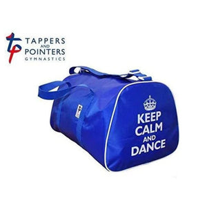 Keep Calm and Dance Hold-all Bag-Bags-Tappers & Pointers-Royal-That's Entertainment Dancewear