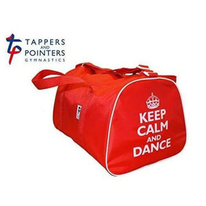 Keep Calm and Dance Hold-all Bag-Bags-Tappers & Pointers-Red-That's Entertainment Dancewear