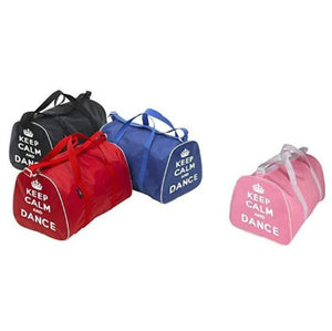 Keep Calm and Dance Hold-all Bag-Bags-Tappers & Pointers-Pink-That's Entertainment Dancewear