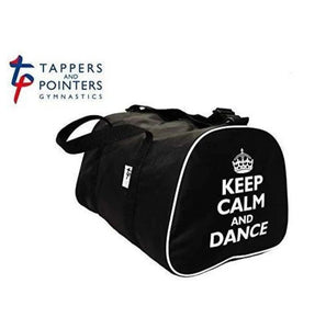 Keep Calm and Dance Hold-all Bag-Bags-Tappers & Pointers-Black-That's Entertainment Dancewear