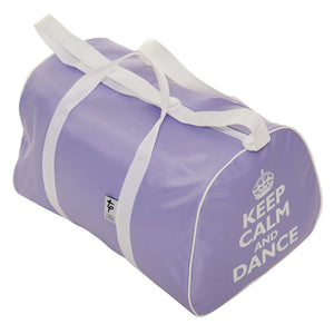 Keep Calm and Dance Hold-all Bag-Bags-Tappers & Pointers-Lilac-That's Entertainment Dancewear