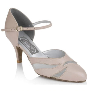 "Leather Ballroom 2.5"" Heel - Freed of London-That's Entertainment Dancewear-Blush-3-That's Entertainment Dancewear"