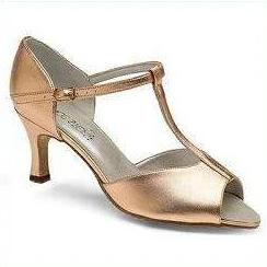 Peep Toe Sandal - Freed of London-Ballroom & Latin-Freed-Peach-2.5-That's Entertainment Dancewear