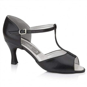 Peep Toe Sandal - Freed of London-Ballroom & Latin-Freed-Black-2-That's Entertainment Dancewear