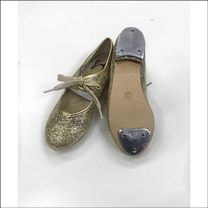 Special Offer - Glitter Tap Shoes-Tap Shoes-Starlite-7c-Gold Glitter-That's Entertainment Dancewear
