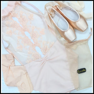 High Neck Embroidered Detailed Back-Fashion Leotards-Ballet Rosa-That's Entertainment Dancewear