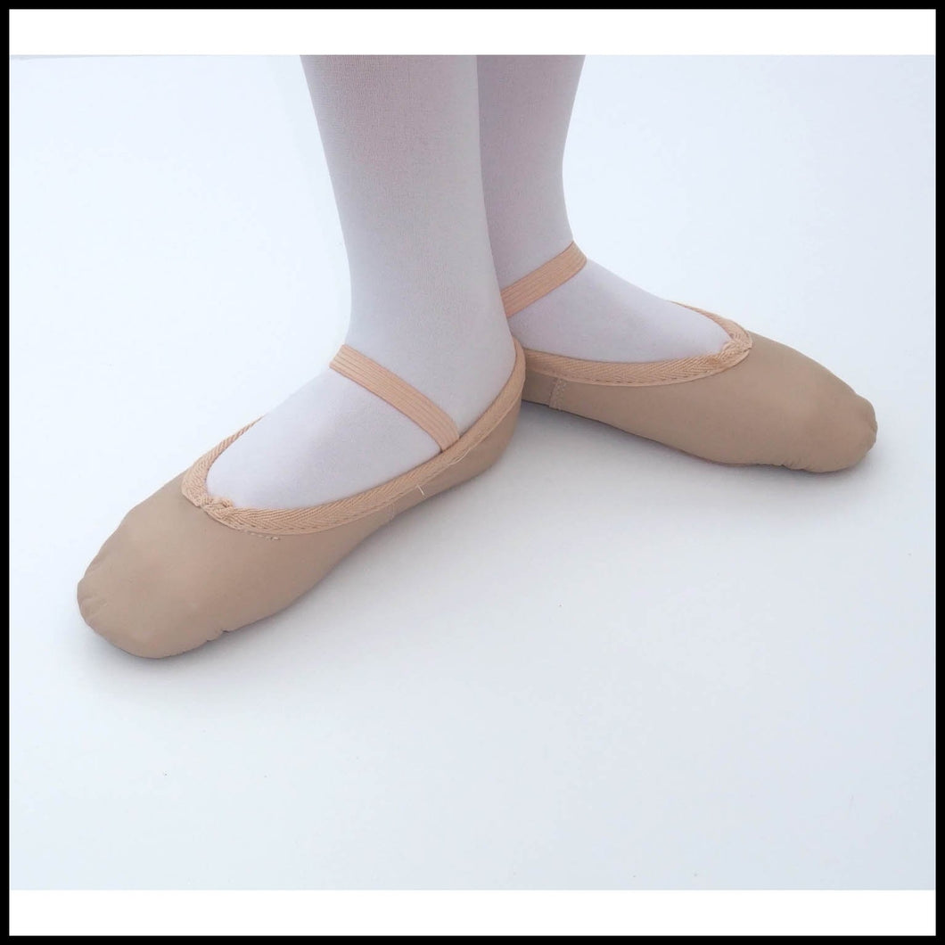 Pink Leather Ballet Shoes-Ballet Shoes-That's Entertainment Dancewear-6c-That's Entertainment Dancewear