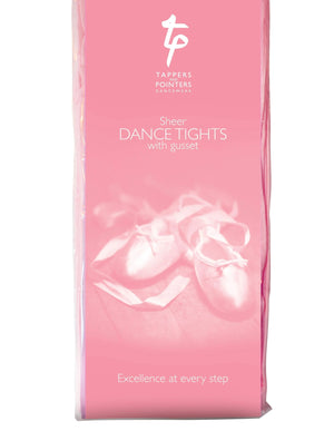 Footed Sheer Dance Tights-Tights-Tappers & Pointers-Pink-Age 3-5-That's Entertainment Dancewear