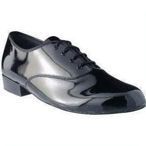 Boys Black Patent Ballroom Shoes-Ballroom & Latin-Freed-9c-That's Entertainment Dancewear