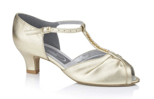 Diamante T-Bar Social Dancing Shoe - Freed of London-Ballroom & Latin-Freed-Gold-2-That's Entertainment Dancewear