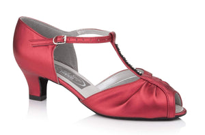 Diamante T-Bar Social Dancing Shoe - Freed of London-Ballroom & Latin-Freed-Red-2-That's Entertainment Dancewear
