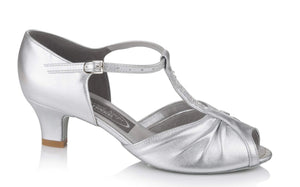 Diamante T-Bar Social Dancing Shoe - Freed of London-Ballroom & Latin-Freed-Silver-2-That's Entertainment Dancewear