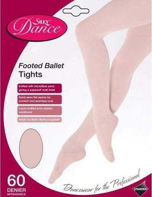 Footed Ballet Tights Pink - Children's-Tights-Silky-That's Entertainment Dancewear