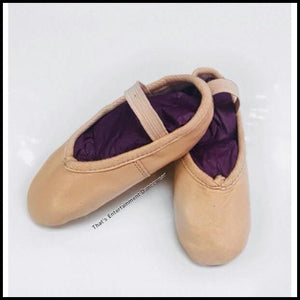 Pink Leather Ballet Shoes-Ballet Shoes-That's Entertainment Dancewear-That's Entertainment Dancewear