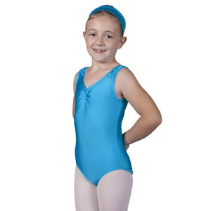 Sleeveless Ruched Front Leotard