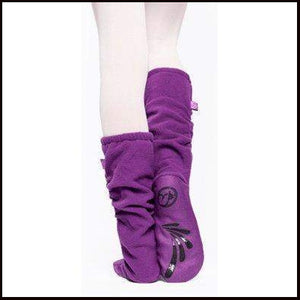 Russian Pointe Fleece Warm Up Socks-Accessories-Russian Pointe-Purple-Small (UK3-4)-That's Entertainment Dancewear
