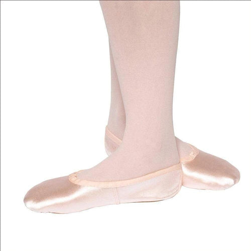 Satin Ballet Shoes - Children's Sizes-Ballet Shoes-Tappers & Pointers-Pink-5c-That's Entertainment Dancewear