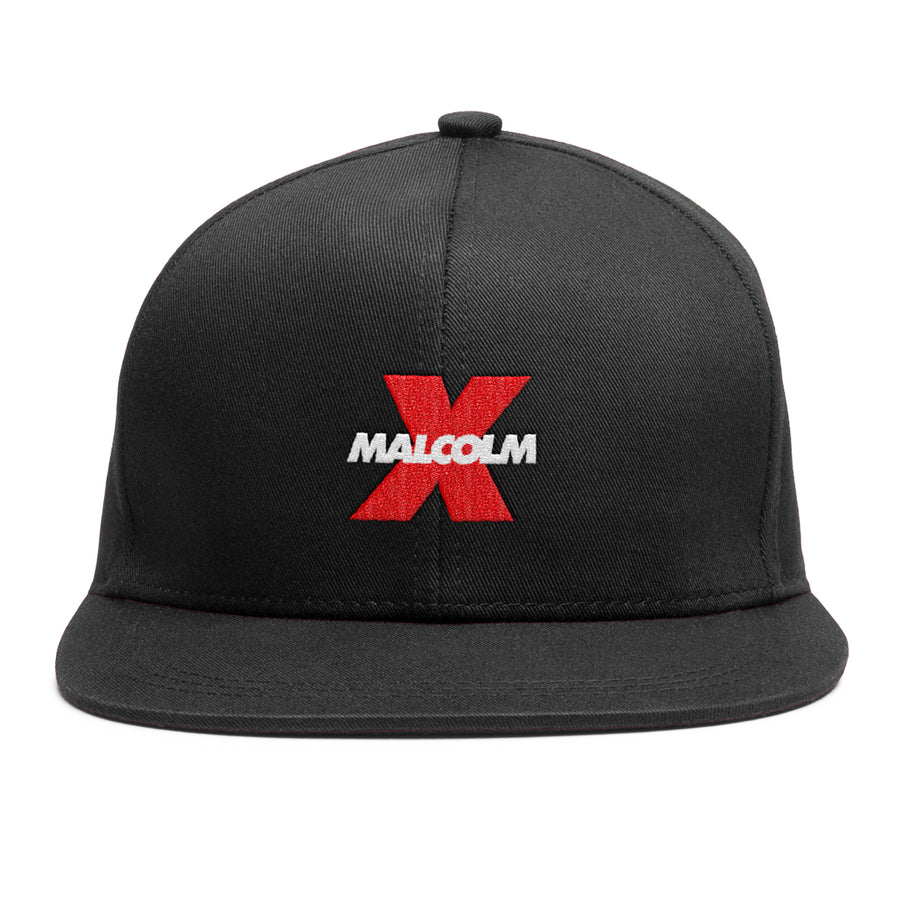 Logo 6 Panel Snapback in Black