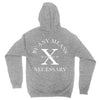 By Any Means Pullover Hoodie in Heather Grey