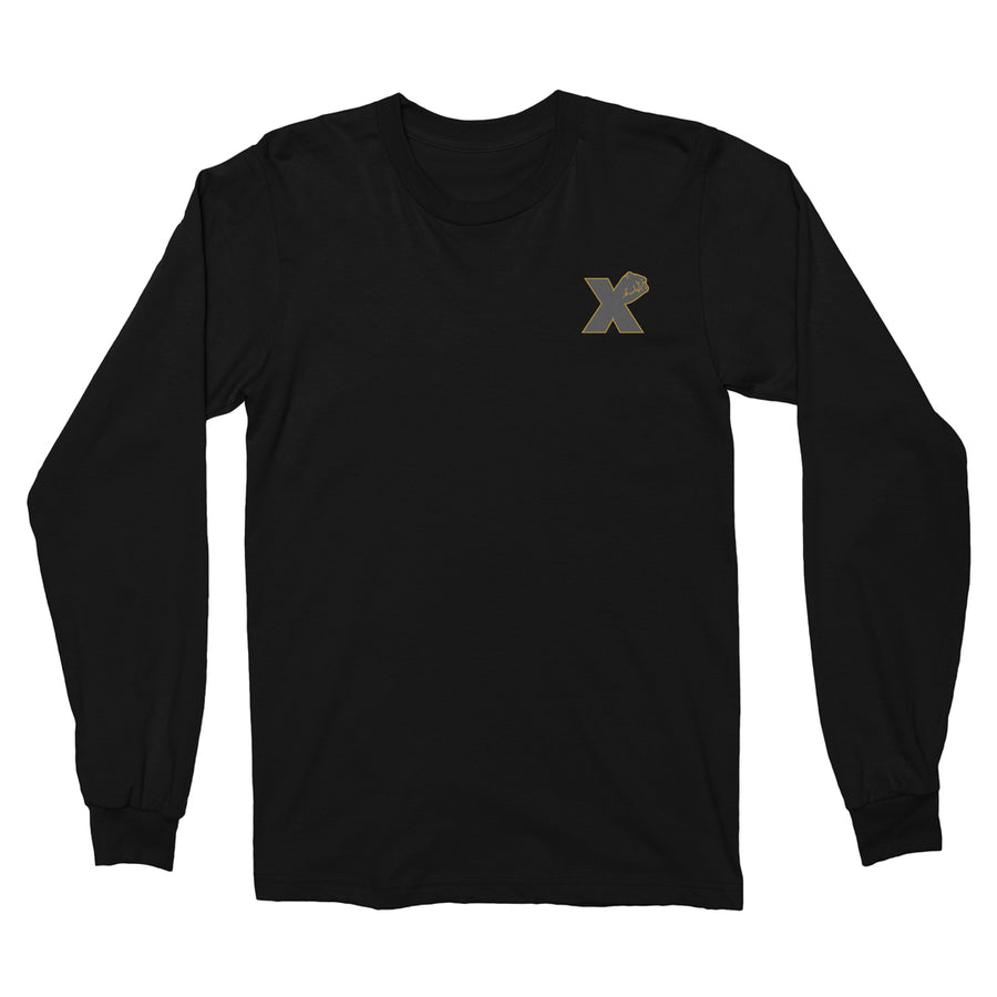 Small X Fist LS Tee In Black