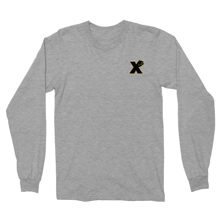 Small X Fist LS Tee In Grey