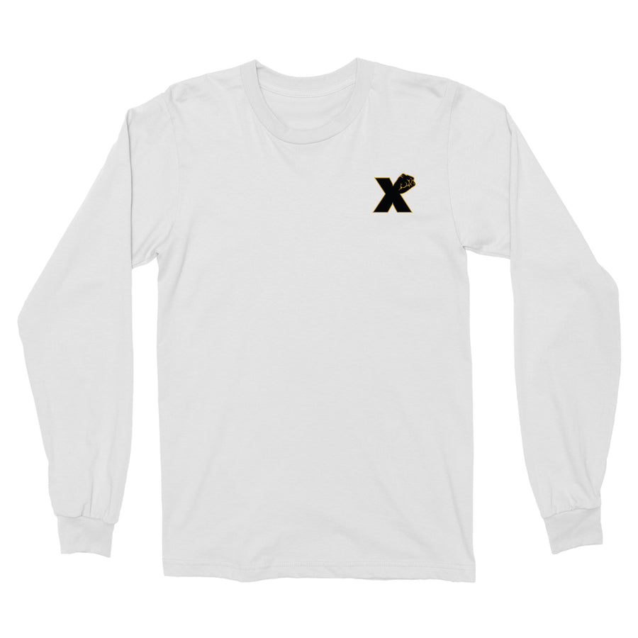 Small X Fist LS Tee In White