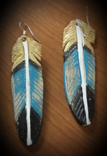 Gwen style Feather earrings