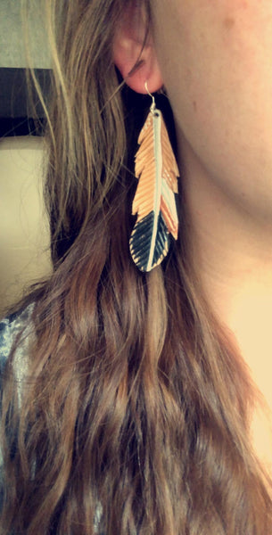 Shylee Style Feather Earrings