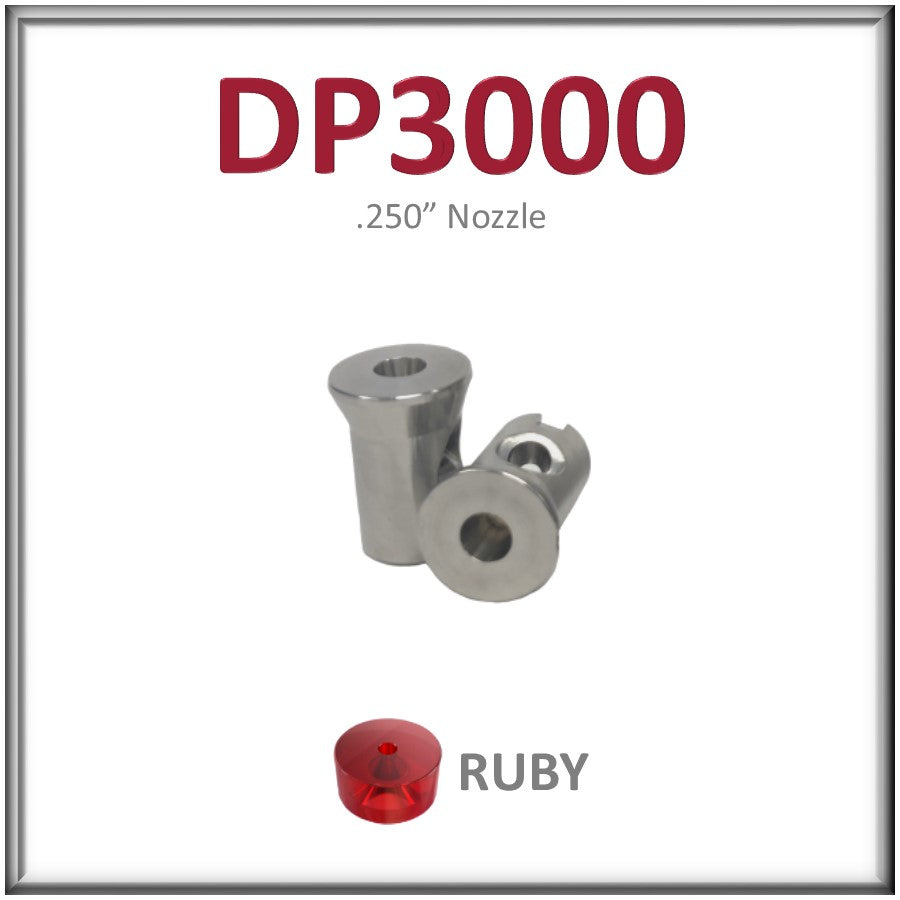 "DP3000, Ruby Orifice Assembly for Heads Using .250"" (Jet Edge style) Mixing Tubes - All Sizes"