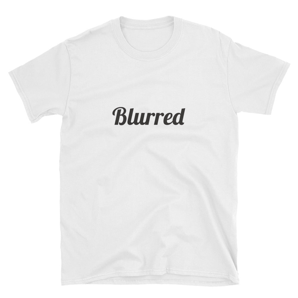 Short-Sleeve Black Blurred T-Shirt