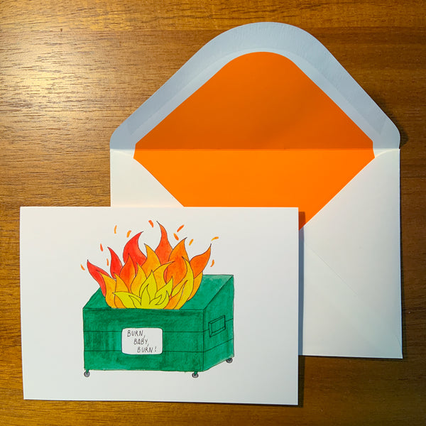 Dumpster Fire Greeting Cards