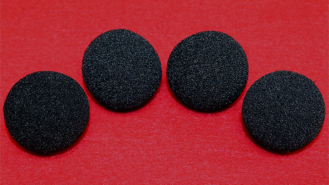 1.5 inch Regular Sponge Ball (Black) Pack of 4 from Magic by Gosh