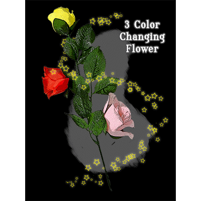 Three Color Changing Floating Flower by JL Magic - Trick