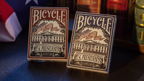 Bicycle U.S. Presidents Playing Cards (Republican Red) by U.S. Playing Card Company